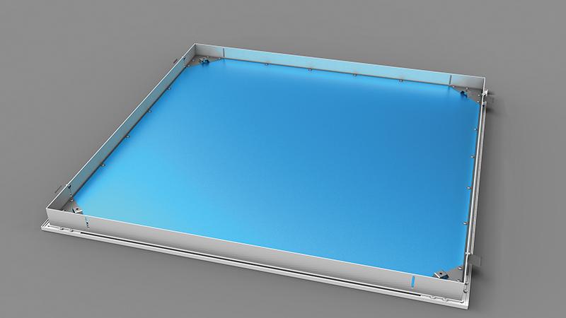 Pannello LED Quadrum con cornice in alluminio (optional su richiesta)